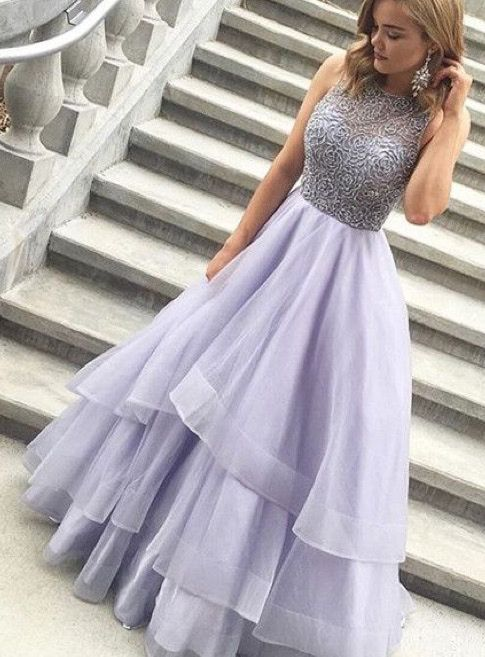 long lanvender prom dresses, lilac long prom dresses for women, women's prom dresses, new arrival prom dresses for party, beaded prom dresses for party 2017