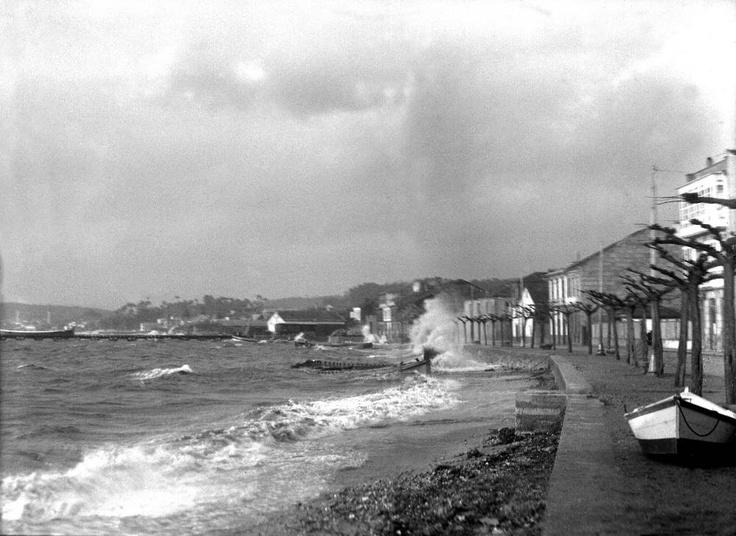 Cando o mar estaba aí mesmo.