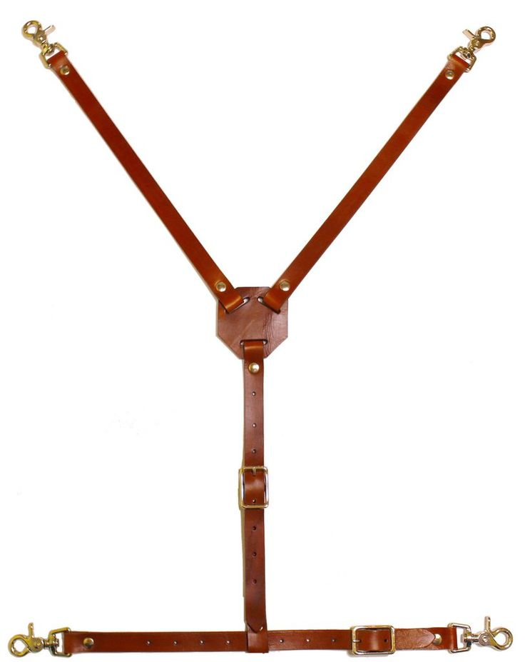 Leather apron back strap Y strap Daeger Canada