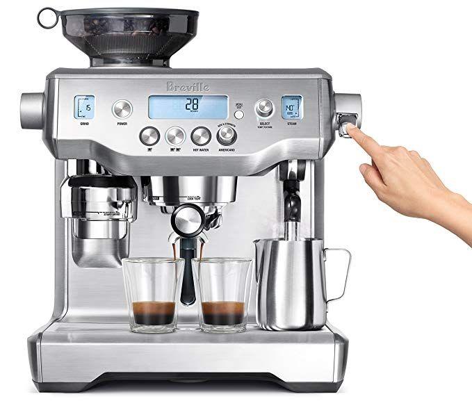 Breville Bes980xl Oracle Espresso Machine Brushed Stainless Steel Best Espresso Machine Espresso Machine Reviews Breville Espresso Machine
