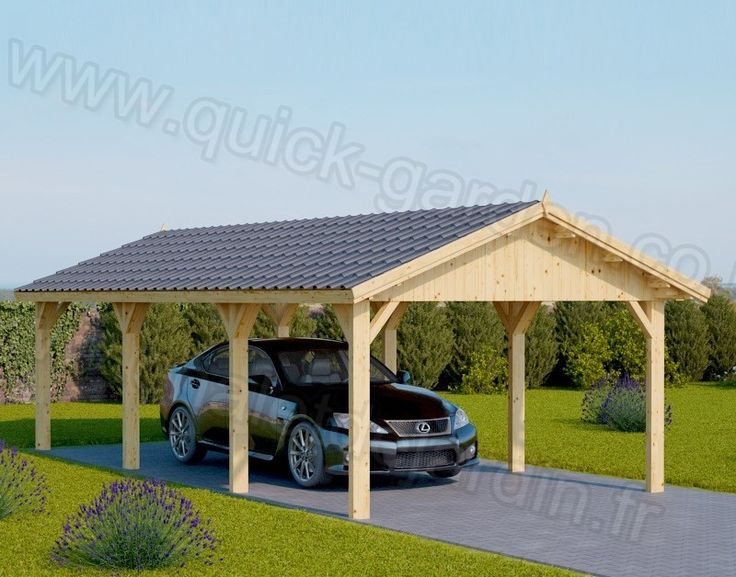 Wooden Car port Classic 3m x 6m (10' x 20') Wooden