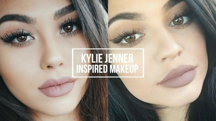 KYLIE JENNER INSPIRED MAKEUP TUTORIAL | Natural Smoky Eye + Classic Kylie Lip - YouTube