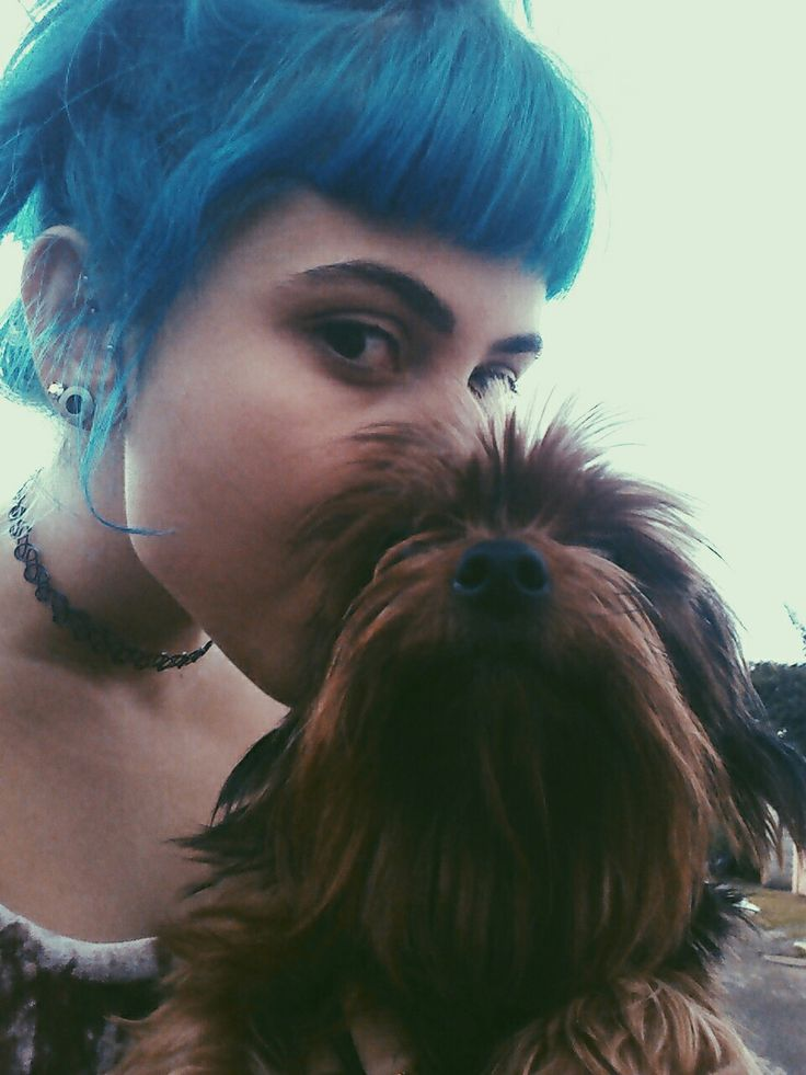 amazing, animal, awesome, bangs, blue, blue hair, brows, color, colorful hair, cool, cute, day, dog, eyebrows, eyes, girl, grunge, happiness, happy, hipster, inspire, light, love, nice, outfit, pale, piercing, rad, yorkshire