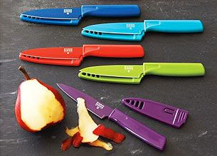 Cutlery | Kuhn Rikon | Sur La Table-- Want these knife sets, especially the glitter paring knives!