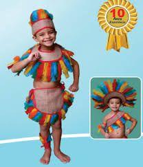 Resultado de imagem para fantasia de índia índio infantil
