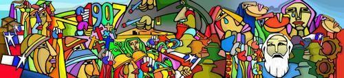 Aqui les comparto otro de los hermosos murales de La Brigada Ramona Parra, sin duda uno de los artes mas lindos que hemos generado para reflejar acontecimientos q formaron parte importante de nuestra historia,......En Rengo tenemos unos murales de la BRP, por si alguna vez visitan el lugar... <BR> <BR>COLECTIVO MURAL <BR>BRIGADA RAMONA PARRA.....y pintaremos hasta el cielo. <BR>>>--------> <BR> - Fotolog