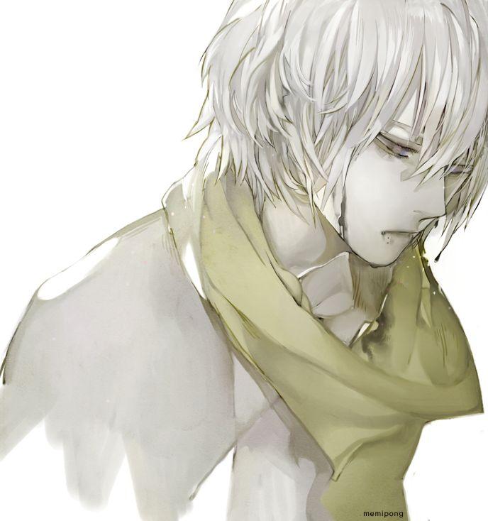 Арты аниме парня альбиноса