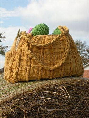 Big Honkin Bag.  FREE pattern in Ravelry