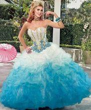 2017 jurken baljurk tulle kralen kristallen voor 15 jaar vestido de debutante sweet 16 baljurken(China (Mainland))