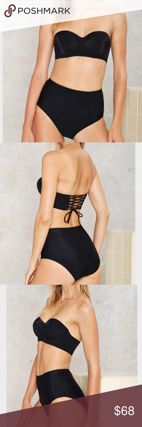 Nasty Gal Women's Black Justina Bikini Set Nasty Gal Women's Black Justina Bikini Set by Beach Joy Nasty Gal Swim Bikinis
