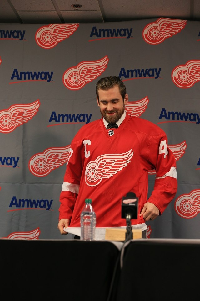 Henrik Zetterberg accepts the captaincy of the Detroit Red Wings!