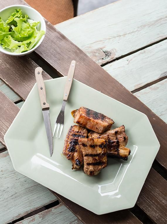 Grillowane żeberka wieprzowe w domowym sosie barbecue #grill #przepisy #żeberka #miód #passata #sos #barbecue #POLOmarket