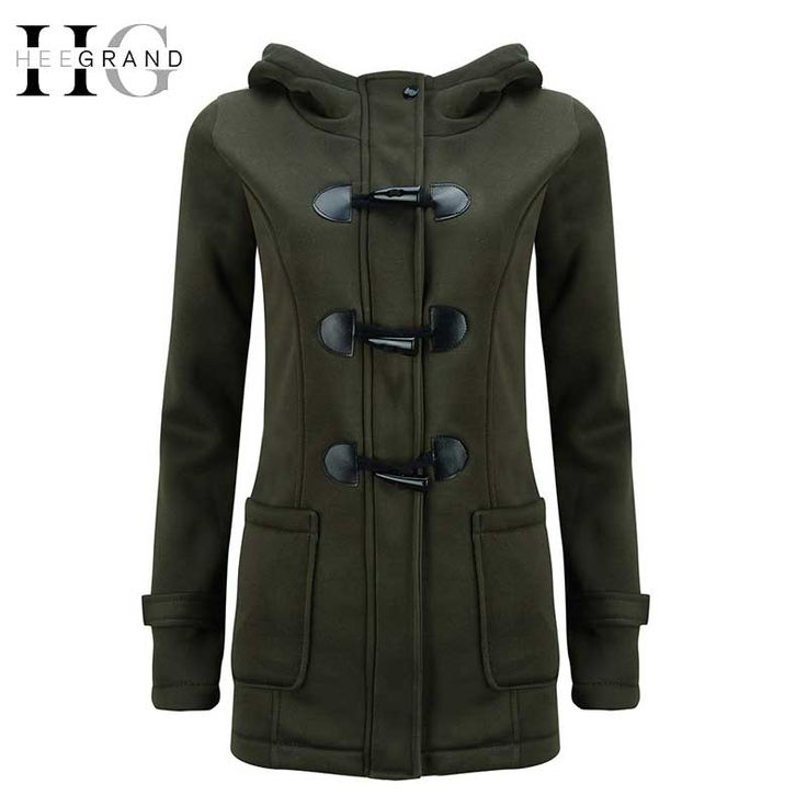 HEE GRAND Women 2017 Plus Size Winter Jacket Basic Coats Thick Parkas Hooded Outwear Solid Classic Female Down Parka WWM1602 #Affiliate