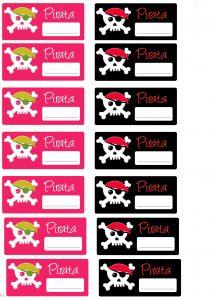 Ideas fiesta pirata: pegatinas