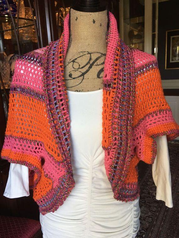 Freeform Crochet Spring/Summer Shrug door ClassyCrochetbyCathy