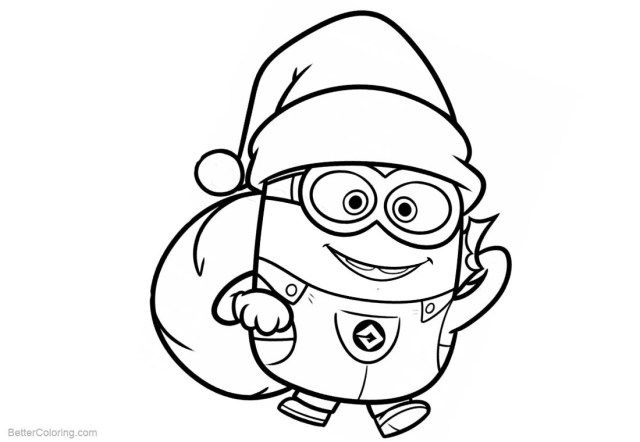 27 Great Image Of Minion Printable Coloring Pages Entitlementtrap Com Minion Christmas Minion Coloring Pages Santa Coloring Pages