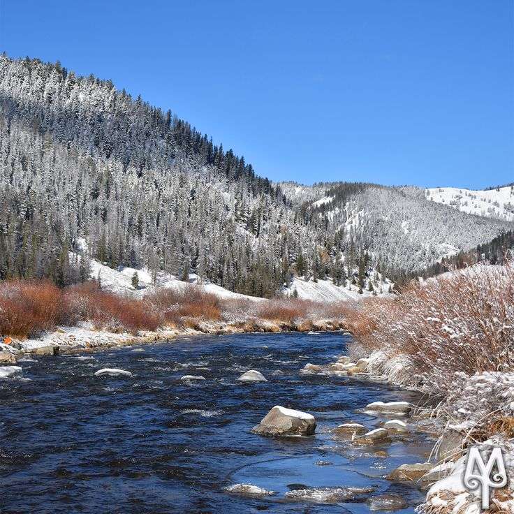 Winter On The Gallatin River, Yellowstone National Park...Explore this section of the Gallatin River on the free Montana Treasures Gallatin River Photo map. Click on this image and select menu item 'G52.'