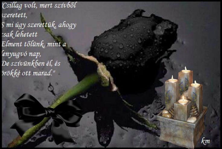 hulló könnyekkel állok síod felett,Pihenjcsak, csendes hant alatt,Lelkünkben még…