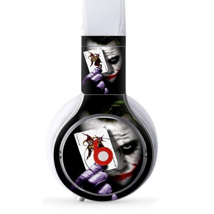 The Joker decal for Monster Beats Pro wireless headphones