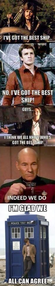 Jack Sparrow, Malcolm Reynolds, Han Solo, Captain Jean-Luc Picard, and the…