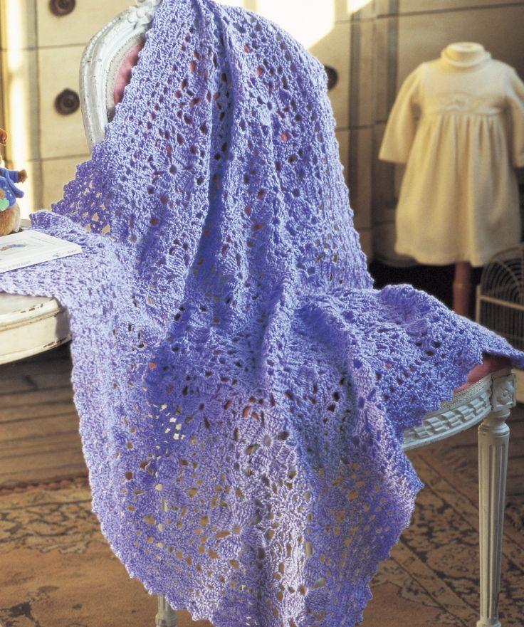 Lacy Lilac Blanket Crochet Pattern