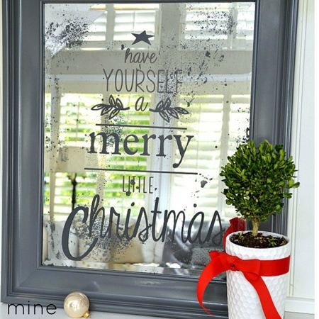 Christmas Mirror - Christmas Pottery Barn Knock-Offs - The Cottage Market