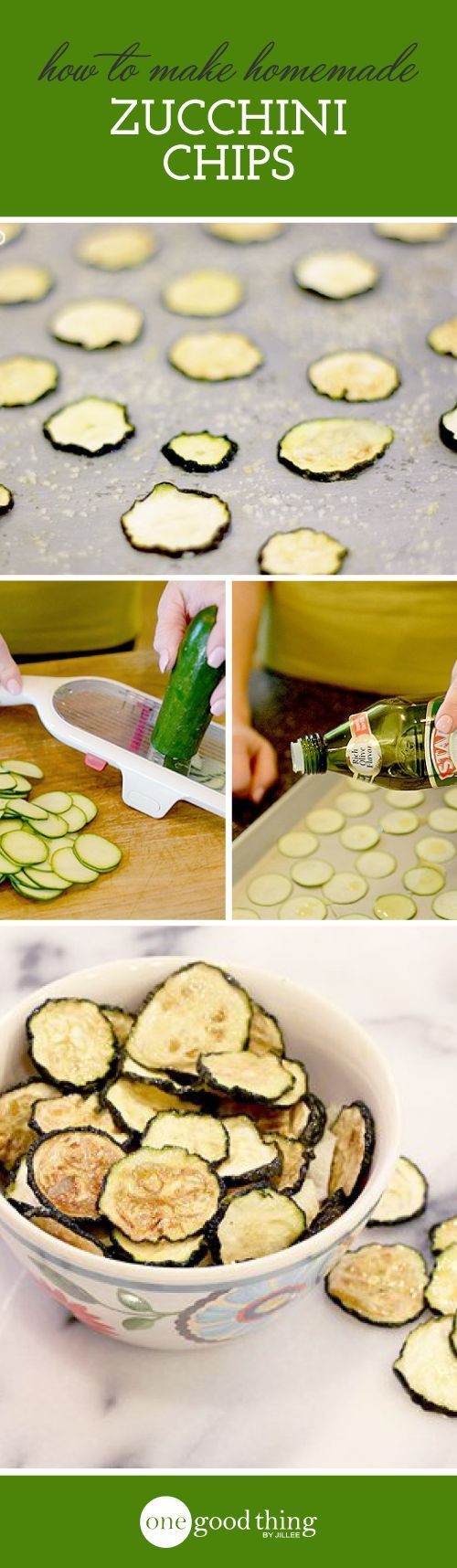 How to make homemade zucchini chips. Just one more way to use up all those garden vegetables.