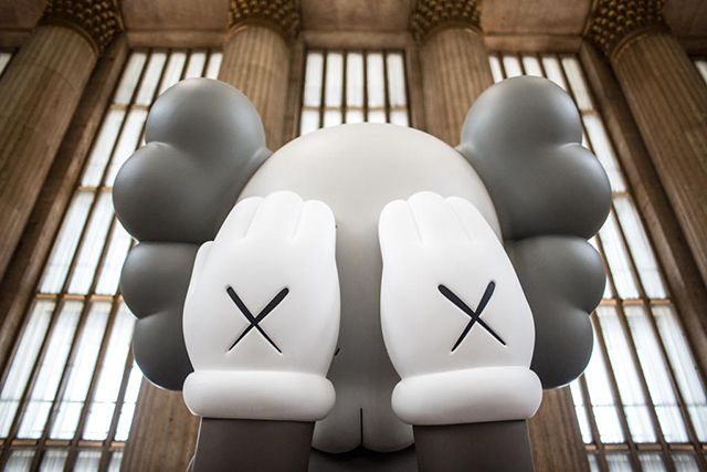 Companion (Passing Through), 16-Foot Tall Sculpture by KAWS Unveiled at Philadelphia's 30th Street Station