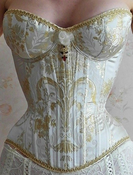 Overbust Corsets with Cups | Lucy's Corsetry --- Corsets & More cupped overbust as part of a wedding gown