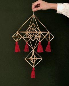 赤い毛糸のタッセルをつけるとクリスマスらしく!