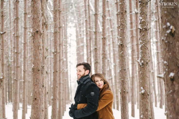 Photography by: http://blog.strokesphotography.com/sarah-brians-kortright-centre-winter-engagement-photos/