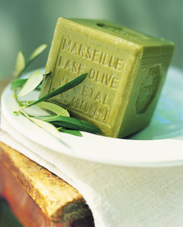Marseille soap: the only kind I use.  Pre de Provence Linden and Vervaine are faves.