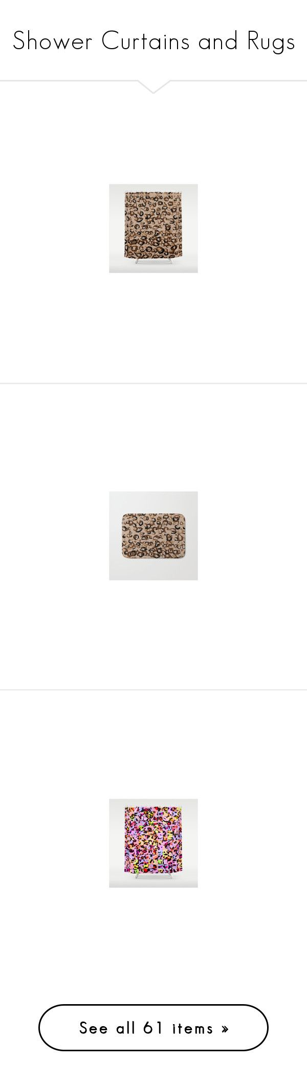Shower Curtains and Rugs by christy-leigh-official on Polyvore featuring home, bed & bath, bath, shower curtains, leopard shower curtains, bath rugs, leopard bathroom rugs, leopard bath mat, colorful shower curtains and multi colored shower curtains