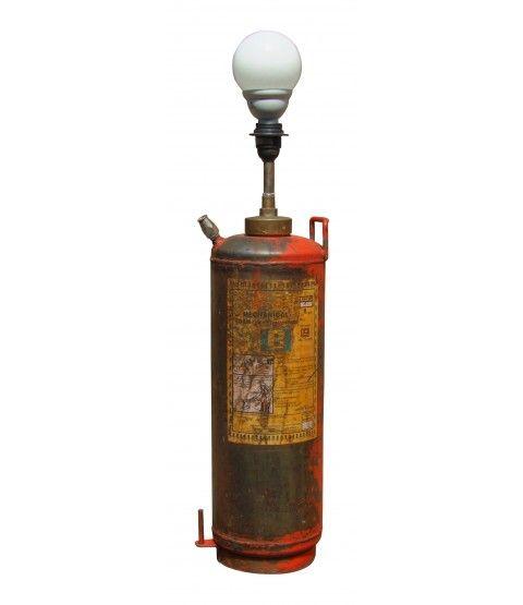 Stehlampe Feuerlöscher Reclaim-Reinvent-Lampe Industrie-Stil Nature & Style  - 2-flowerpower