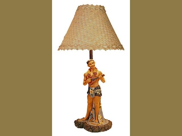 "VINTAGE HULA LAMP 16"" - SINGING LOCAL BOY UKULELE  Price: $99.50"