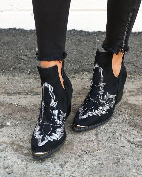 cute western boho booties