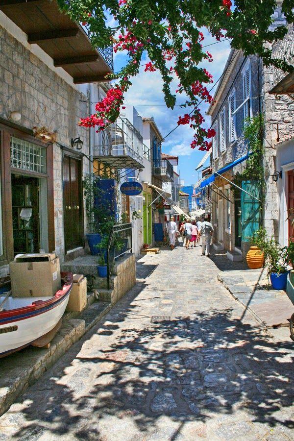 Streets of Hydra Island, Greece