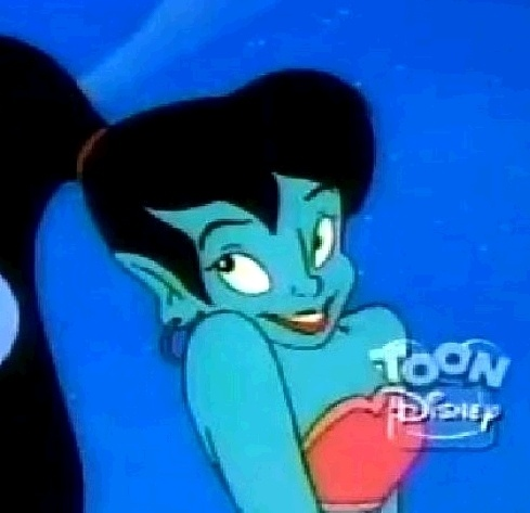 "Genie's girlfriend, Eden (Debbie Derryberry) from the ""Aladdin"" TV series."