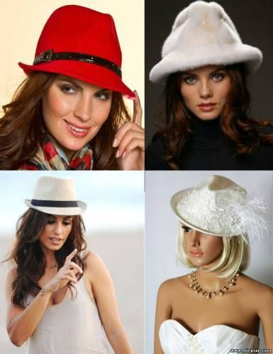 выкройка шляпы федора