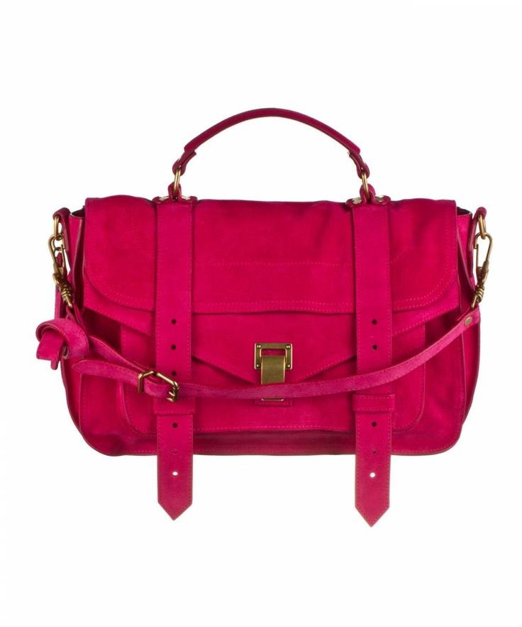Proenza Schouler PS1 Medium Suede Hot Pink