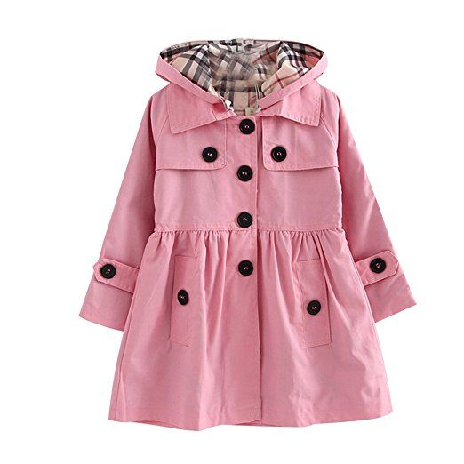 Free Fisher Abrigos Chubasquero Sudadera Coat Girls Windbreaker Niñas Rosa90
