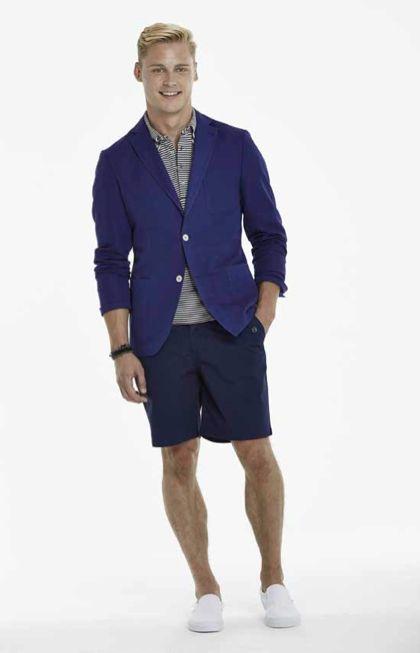Mazarine Blue Armada Jacket, Navy Striper Polo, Navy Freeport Shorts #MensWear #MensFashion #allaboutthewater