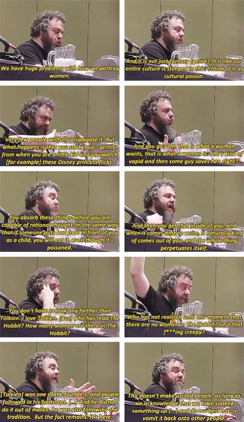 Patrick Rothfuss + Women in Media. Yet another reason to love this person!