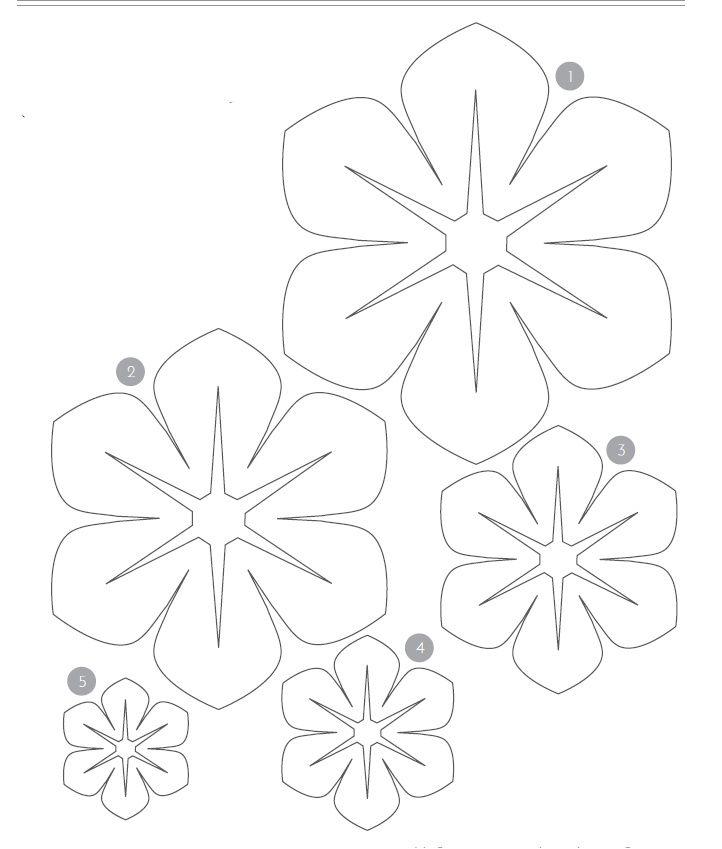 Шаблон цветов из фетра своими руками 124
