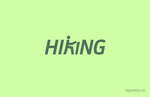 Hiking   Logo a Day