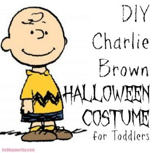 DIY #Halloween #costume for #Toddlers - Charlie Brown! With PDF pattern & instructions.