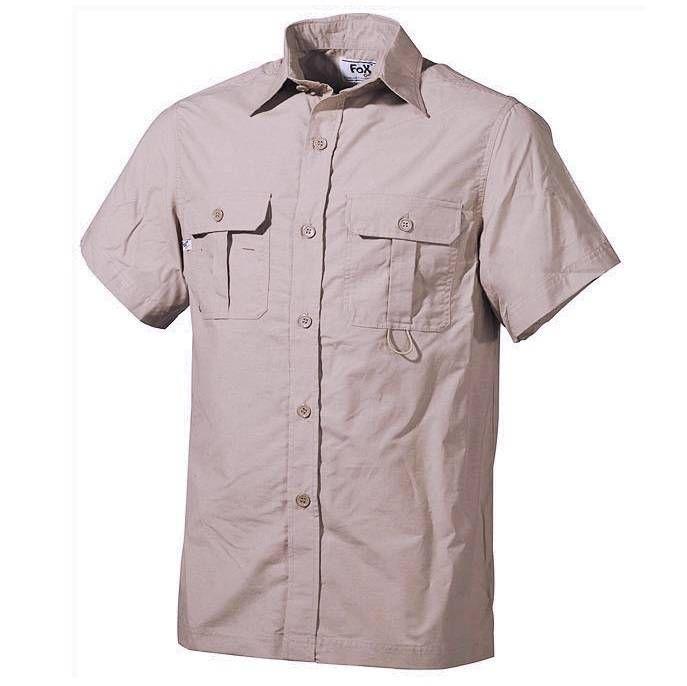 Fox Outdoor Outdoor Hemd, kurzarm, khaki / mehr Infos auf: www.Guntia-Militaria-Shop.de