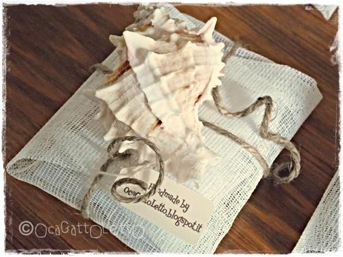 OcaGattoLetto: Bomboniere e cuscino portafedi a tema marino