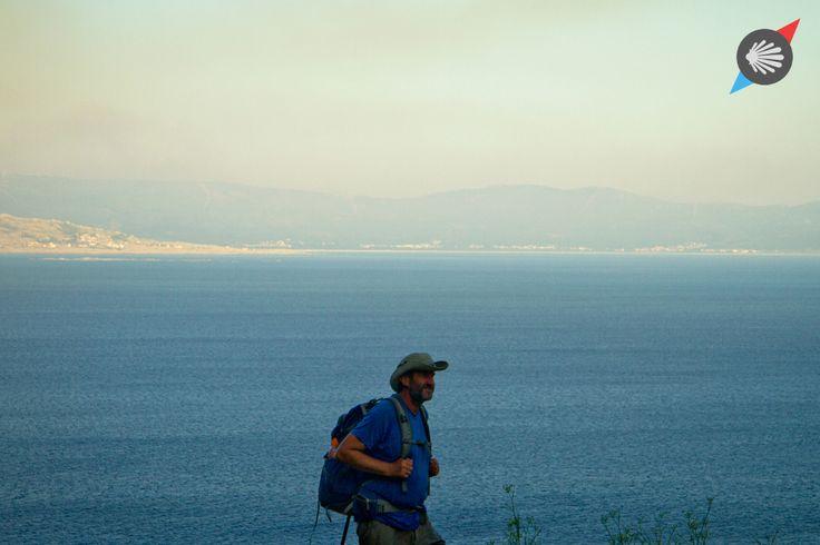 #pilgrim #sea #blue #Finisterre