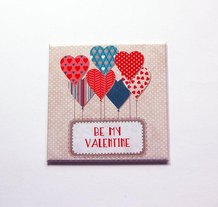 Be My Valentine Magnet, Heart magnet, Fridge magnet, Gift for her, Kitchen Magnet, Gift for girlfriend, Hearts, Valentine Gift (7175) by KellysMagnets on Etsy